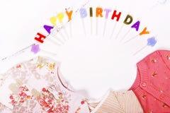 Концепция дня рождения младенца первая Стоковые Изображения