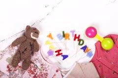 Концепция дня рождения младенца первая Стоковое Изображение