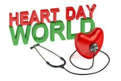 Концепция дня сердца мира Стоковая Фотография RF