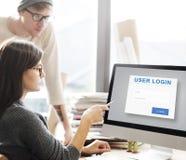 Концепция обеспечения секретности безопасностью имени пользователя потребителя Стоковые Изображения