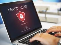 Концепция обмана предосторежения Phishing аферы очковтирательства Стоковые Изображения