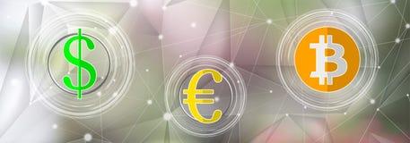 Концепция обмена валюты иллюстрация штока