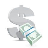 Концепция обменом счетов валюты доллара бесплатная иллюстрация