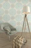 Концепция обоев элегантности живущей комнаты Стоковые Изображения RF