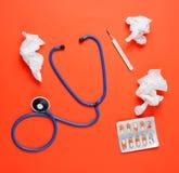 Концепция обрабатывать холодные заболевания стоковая фотография rf
