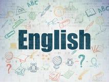 Концепция образования: Английский язык на бумаге цифров Стоковая Фотография RF