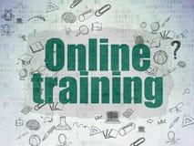 Концепция образования: Онлайн обучение на цифров Стоковое Изображение RF