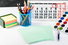 Концепция образования, первое -го сентябрь или назад к школы Стоковые Изображения