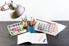 Концепция образования, первое -го сентябрь или назад к школы w Стоковые Изображения