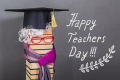 Концепция образования счастливого дня учителей смешная Стоковое Фото