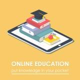 Концепция образования технологии книги e-читателя таблетки передвижная Стоковое фото RF