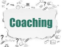 Концепция образования: Тренировать на сорванной бумаге Стоковое Изображение RF