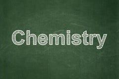 Концепция образования: Химия на предпосылке доски стоковые изображения rf