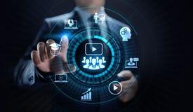 Концепция образовательного бизнеса семинара обучения по Интернету Webinar онлайн стоковая фотография rf