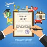 Концепция обслуживаний страхования Стоковое Изображение RF