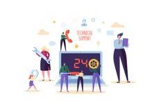 Концепция обслуживания помощи службы технической поддержки и клиента Онлайн помощь с оператором характеров профессиональным с ком бесплатная иллюстрация