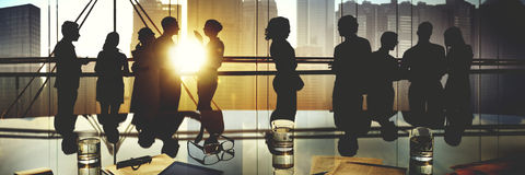 Концепция обсуждения встречи деятельности людей офиса стоковая фотография