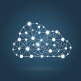 Концепция облака вычисляя - интернет Стоковые Изображения