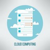 Концепция облака вычисляя соответствующая для дела Стоковые Фото