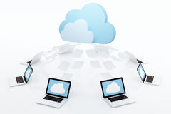 Концепция облака вычисляя Стоковая Фотография