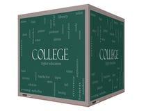 Концепция облака слова коллежа на классн классном куба 3D бесплатная иллюстрация