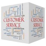 Концепция облака слова куба обслуживания клиента 3D бесплатная иллюстрация