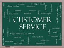 Концепция облака слова обслуживания клиента на классн классном иллюстрация штока