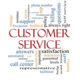 Концепция облака слова обслуживания клиента бесплатная иллюстрация