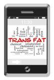 Концепция облака слова Trans тучная на телефоне сенсорного экрана иллюстрация штока