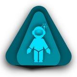 Концепция логотипа астронавта в треугольнике Стоковое Изображение RF