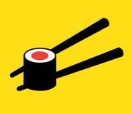 Концепция логотипа суш Стоковое Изображение RF