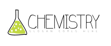 Концепция логотипа химии Стоковые Фото