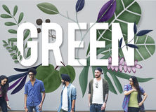 Концепция окружающей среды зеленого цвета дня земли Eco дружелюбная стоковая фотография