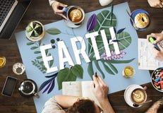 Концепция окружающей среды зеленого цвета дня земли Eco дружелюбная Стоковое Изображение RF