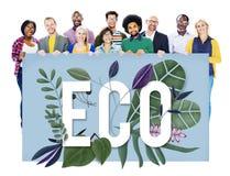 Концепция окружающей среды зеленого цвета дня земли Eco дружелюбная стоковые фотографии rf