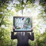 Концепция окружающей среды зеленого цвета дня земли Eco дружелюбная Стоковые Изображения RF