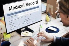Концепция документа здравоохранения отчете о медицинской истории стоковое фото rf