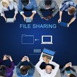 Концепция документа цифров данным по компьютера совместного пользования файлами Стоковые Изображения RF