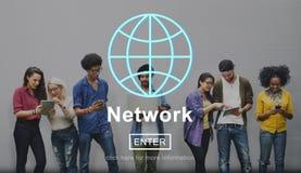 Концепция домашней страницы интернета сети сети онлайн Стоковое Фото