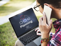 Концепция домашней страницы организационной схемы планирующей организации Стоковая Фотография