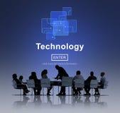 Концепция домашней страницы развития цифров нововведения технологии Стоковое фото RF