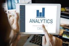 Концепция домашней страницы App финансов аналитика Стоковое фото RF