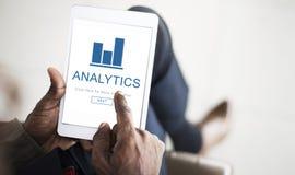 Концепция домашней страницы App финансов аналитика Стоковые Изображения RF