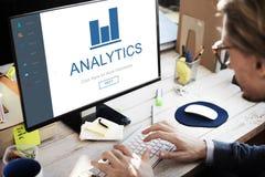 Концепция домашней страницы App финансов аналитика Стоковое Изображение RF
