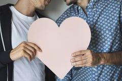 Концепция дома влюбленности пар гомосексуалиста Стоковая Фотография