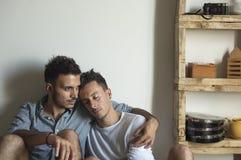 Концепция дома влюбленности пар гомосексуалиста Стоковое Изображение RF