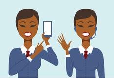 Концепция онлайн и телефона клиентов поддержки Стоковая Фотография RF