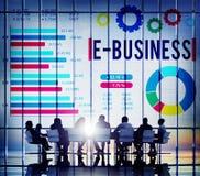 Концепция онлайн маркетинговой стратегии E-дела корпоративная Стоковые Изображения RF