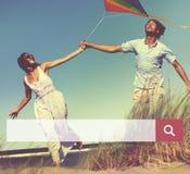 Концепция онлайн просматривать сети коробки поиска ища стоковые фото