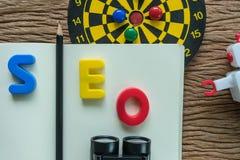 Концепция оптимизирования поисковой системы SEO с карандашем, SE алфавитов Стоковая Фотография RF